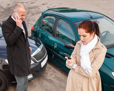 Assessment of damage in an accident, independent car examination